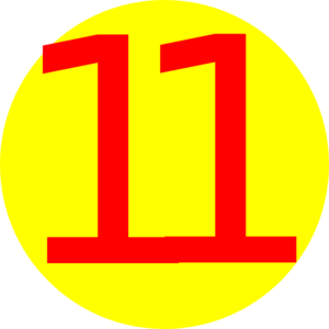 Yellow, Round, With Number 11 Clip Art at Clker.com.