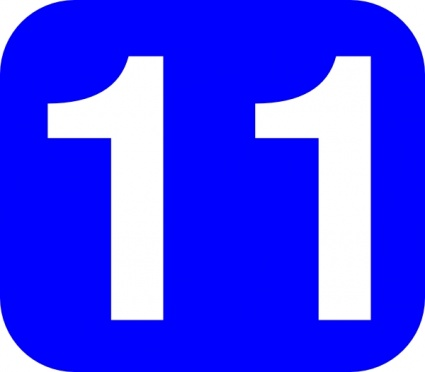 Number 11 Clipart.