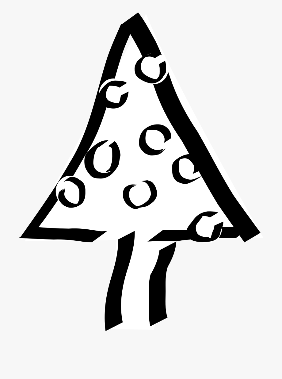 Christmas Tree Black And White Tree Clipart Black And.