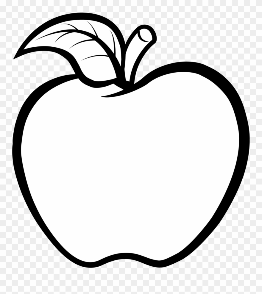 Apple Clipart Black And White Vector Free 11 Buah Apel.
