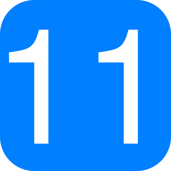 Blue, Rounded, Square With Number 11 Clip Art at Clker.com.