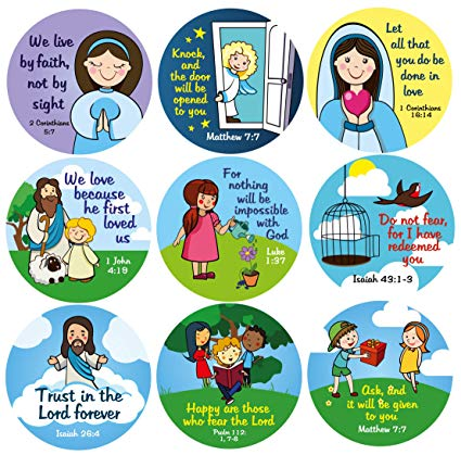 Christian Stickers for Kids.
