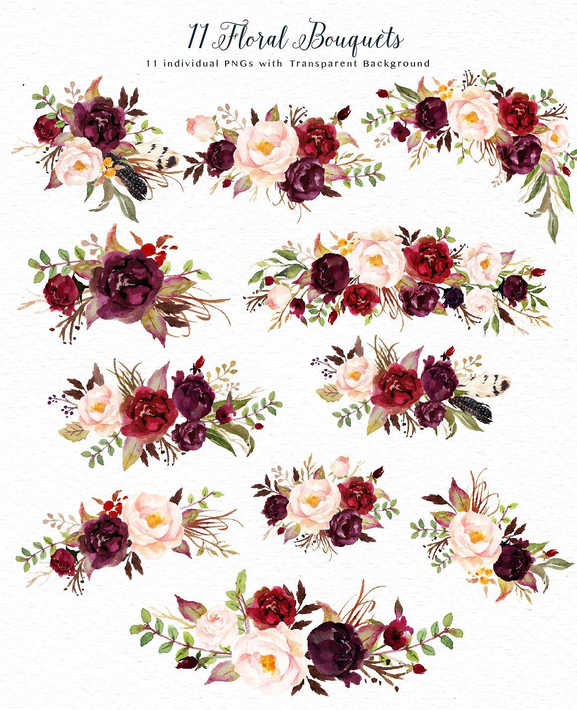 11 Flowers Clipart.
