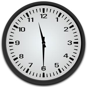 Half Past 11 o\'clock clipart, cliparts of Half Past 11 o.
