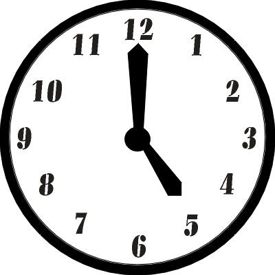 5 O Clock Clipart.