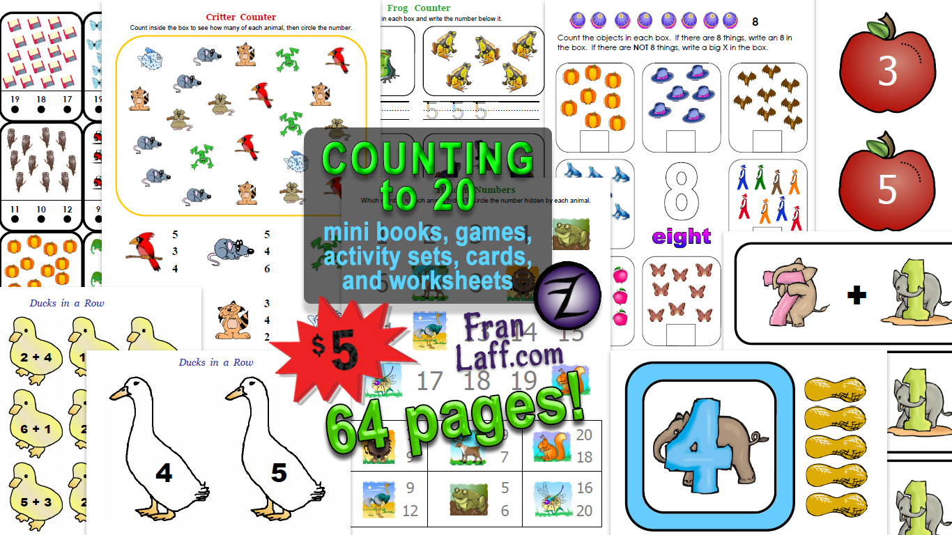 Counting to 20 Fun Pack.