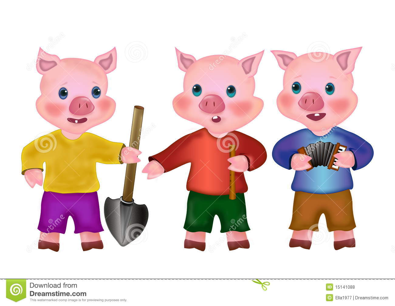 Three little pigs clipart 2 » Clipart Station.