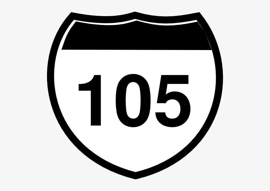 Interstate Sign I 105 Clip Art.