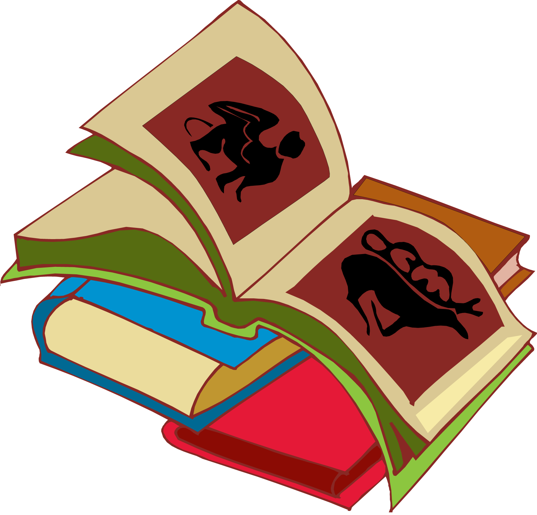 114 Stack Of Books Clipart.