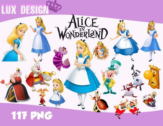 117 Alice in Wonderland ClipArt.