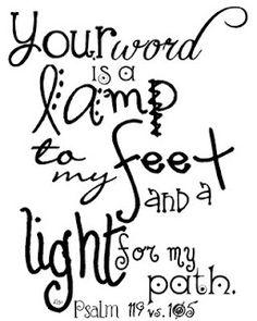 Psalm 119 105 clipart.