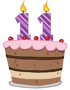 Happy 11th Birthday Cake Gifts on Zazzle.