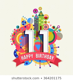 11th Birthday Images, Stock Photos & Vectors.