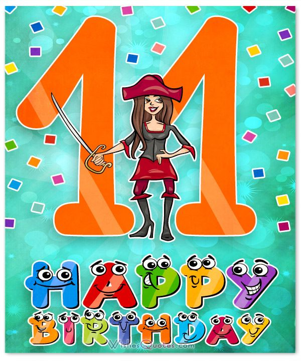 11th Birthday Wishes.