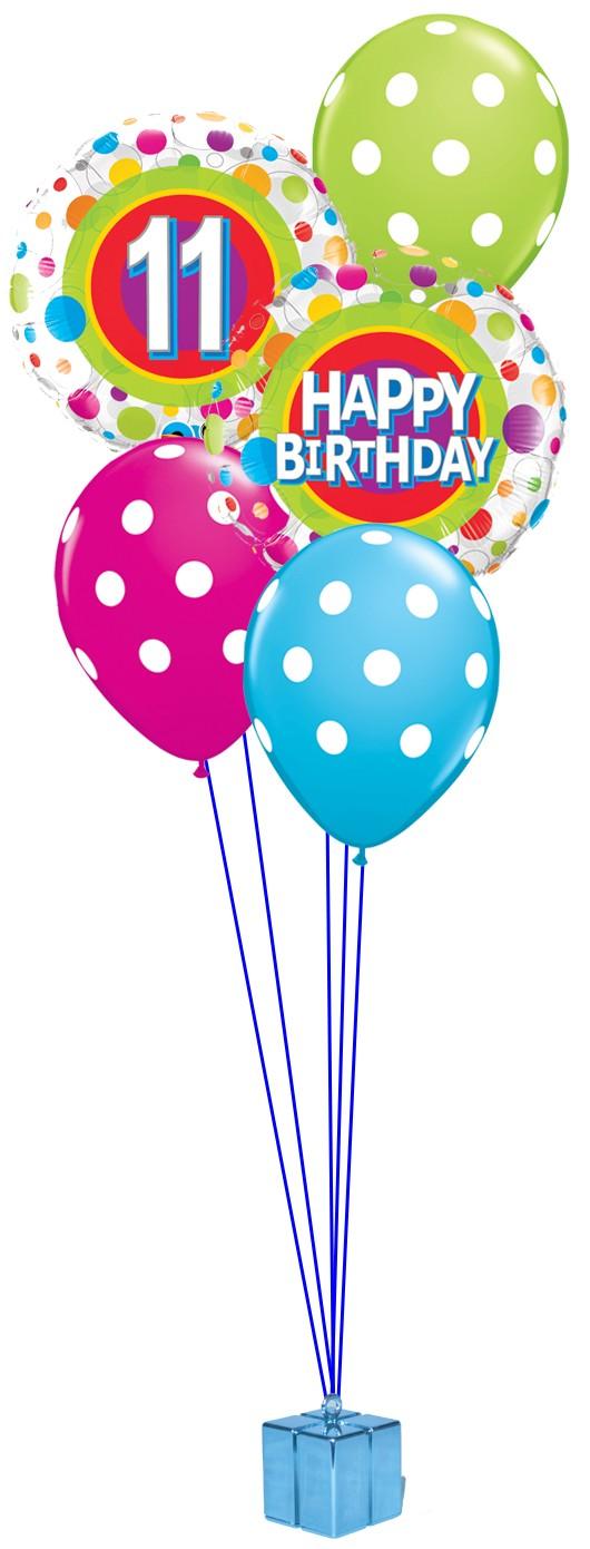 11th Birthday Balloon Bouquet.