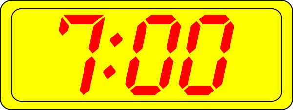 Digital Clock 7:00 Clip Art at Clker.com.