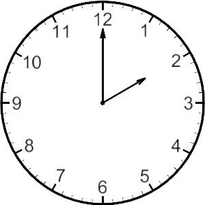 Clocks clipart 12 am.