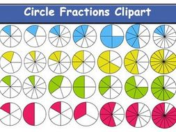 Circle Fraction Clipart.