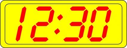 Digital Clock 12:30 clip art Clipart Graphic.