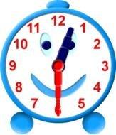 12 00 Clock Clip Art free image.