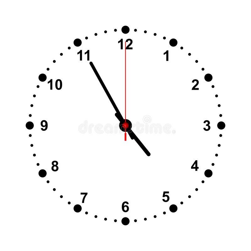 12 O Clock White Clocks Stock Illustrations.