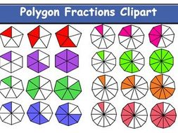 Polygons Fraction Clipart.