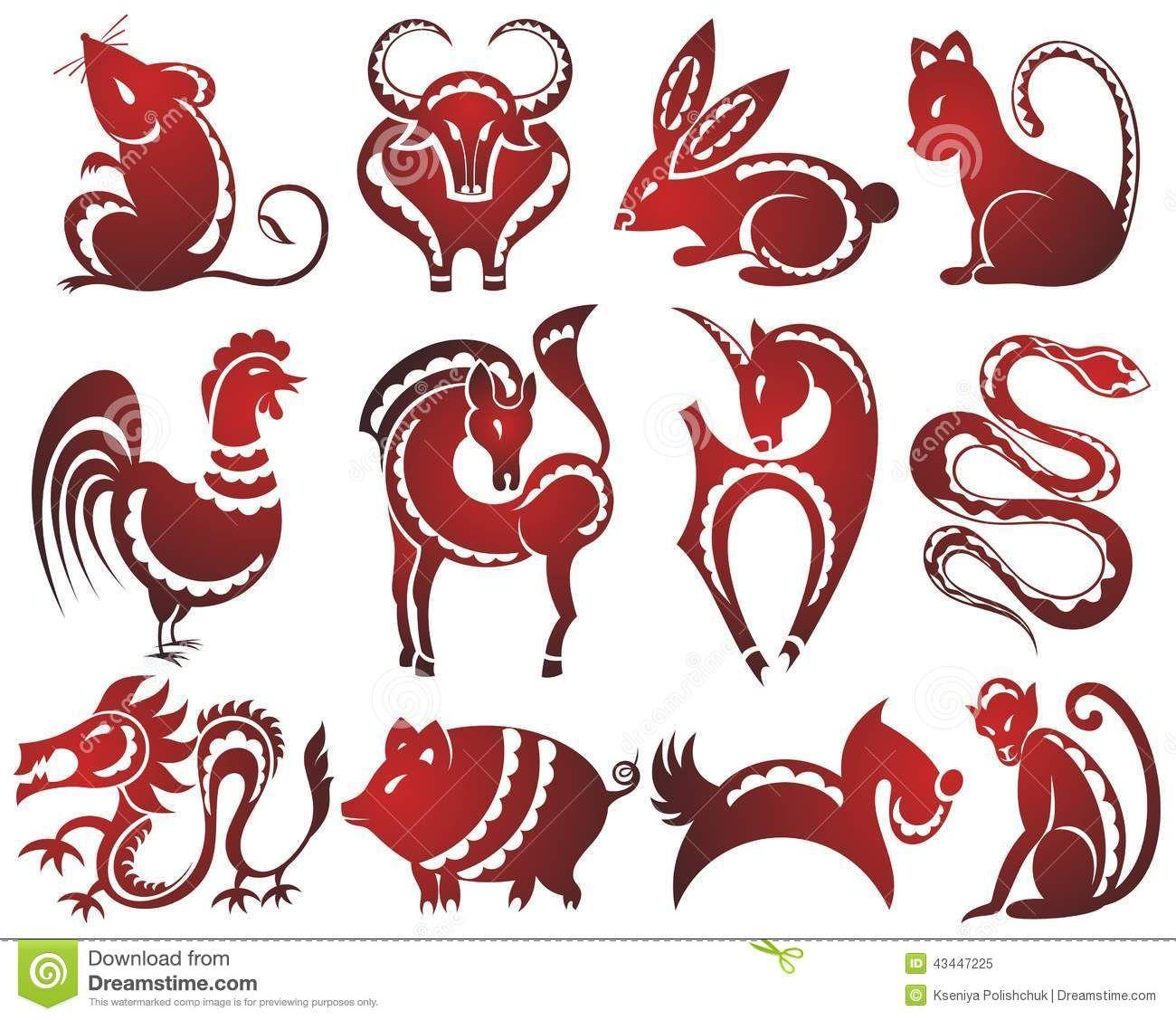 chinese 12 animal zodiac.