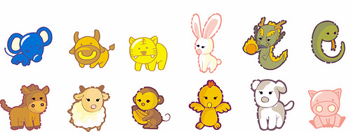 Chinese New Year Animals & Chinese Zodiac.