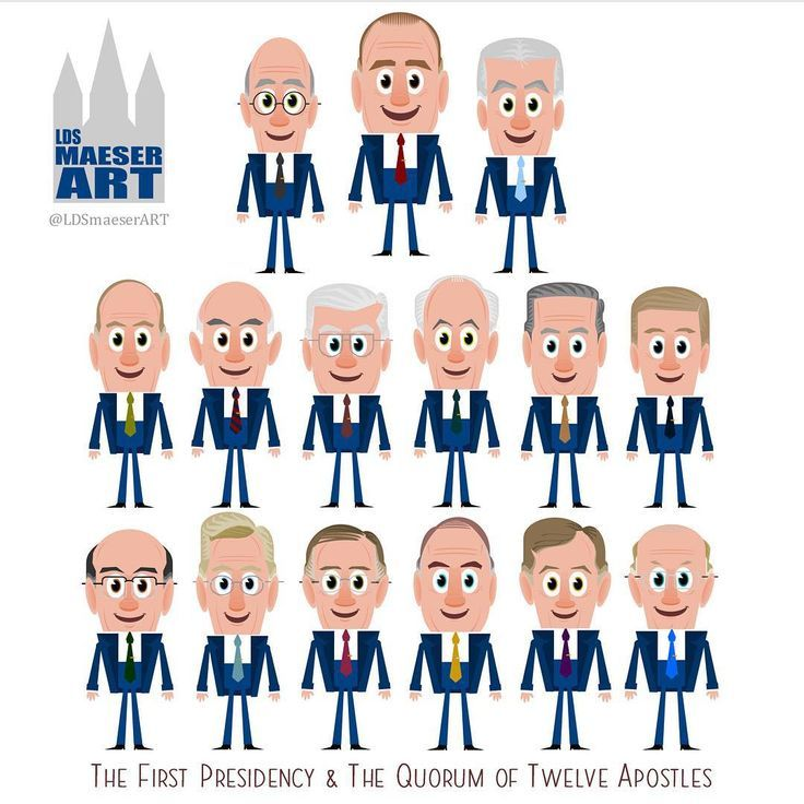 The first presidency and quorum of the 12 apostles..