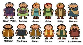 Bible 12 Disciples Set 5 The Twelve Clipart.