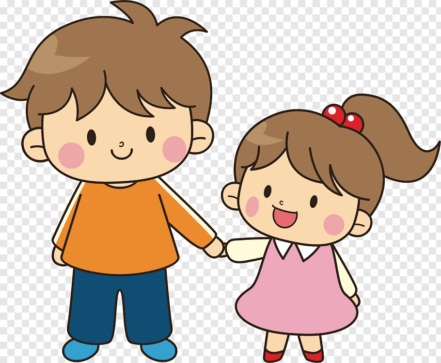 Boy holding girl illustration, Brother Sibling Sister.