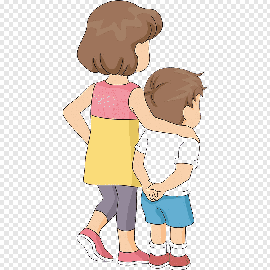 Girl and boy illustration, Brother Sibling Drawing, Find.