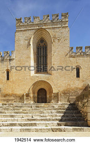 Stock Photo of Steps To 12Th Century Santes Creus Monastery.