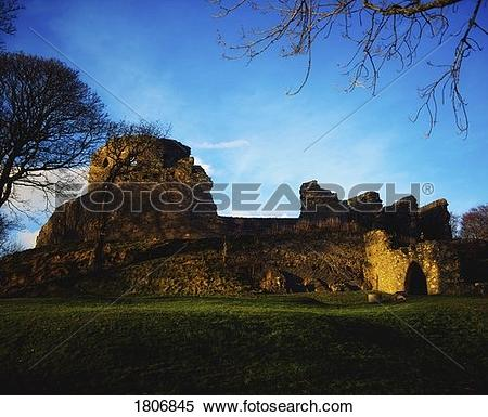 Stock Image of Co Down, Dundrum Castle (12th Century), Ireland.