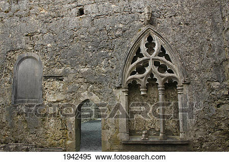 Stock Image of Exterior Of 12Th Century Kilfenora Cathedral.