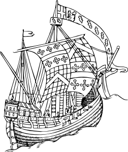 Ship From The Mid Th Century Clip Art at Clker.com.