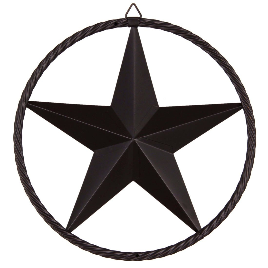 Paixpays 12/17/24\'\'Bronze Metal Circle Ring Star Hanging Home Wall/Door  Decor.