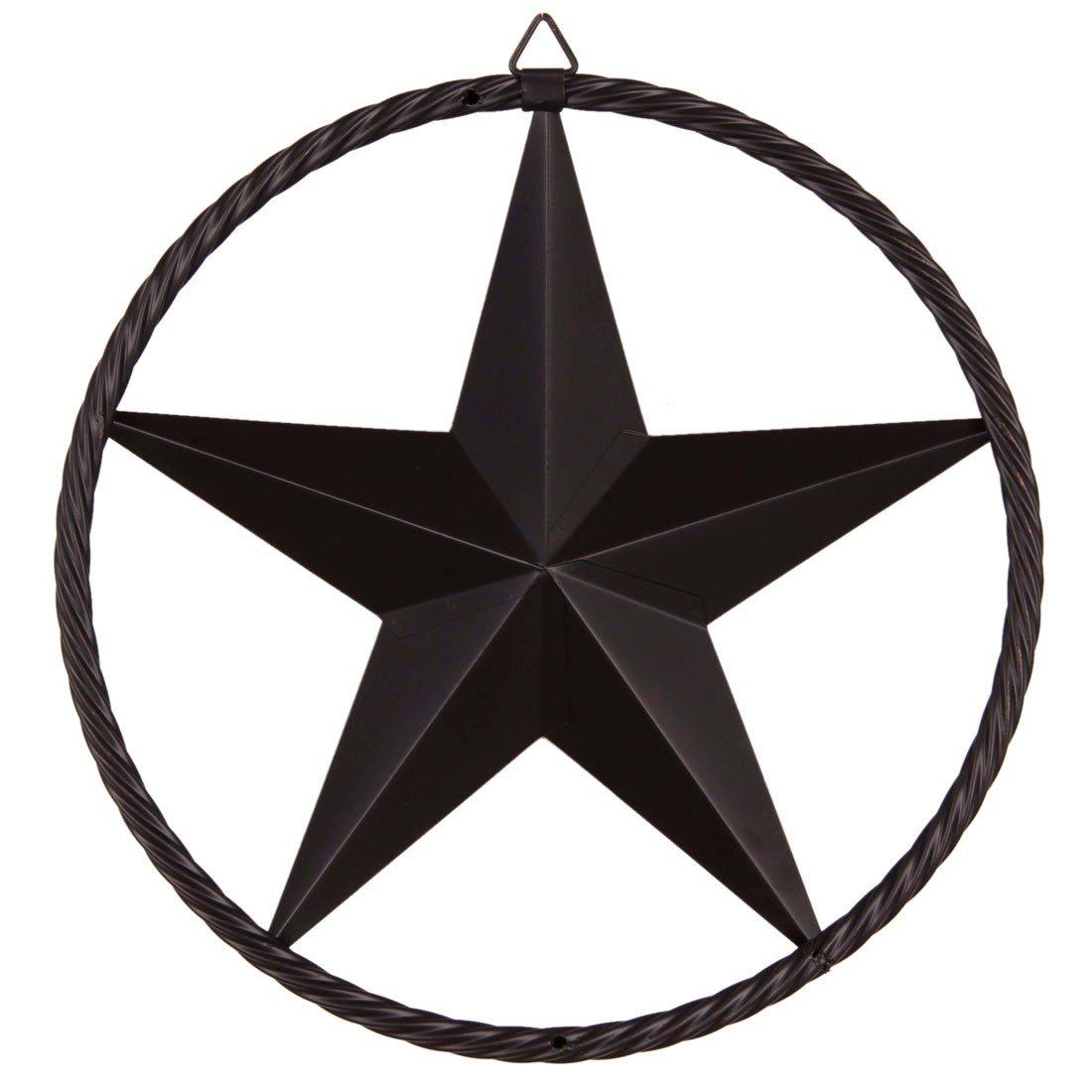 Paixpays 12/17/24\'\'Bronze Metal Circle Ring Star Hanging Home Wall/Door  Decor.