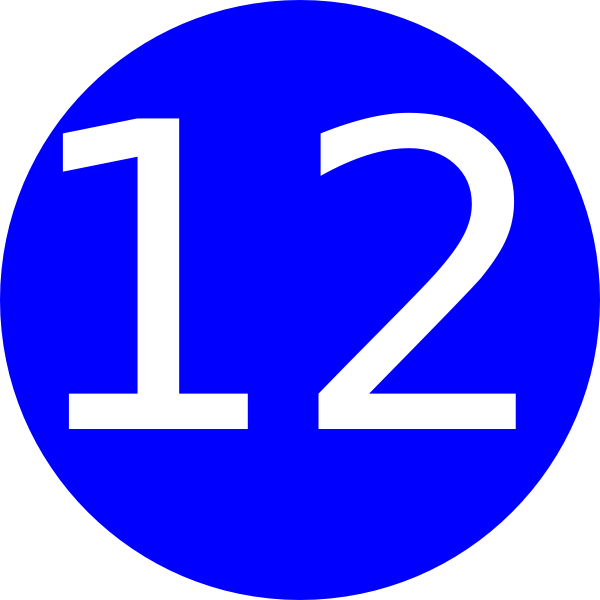 Number 12 Clipart.