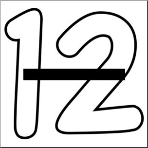 the number 12 clipart.