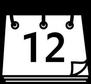 12 Calendar Day Clip Art at Clker.com.