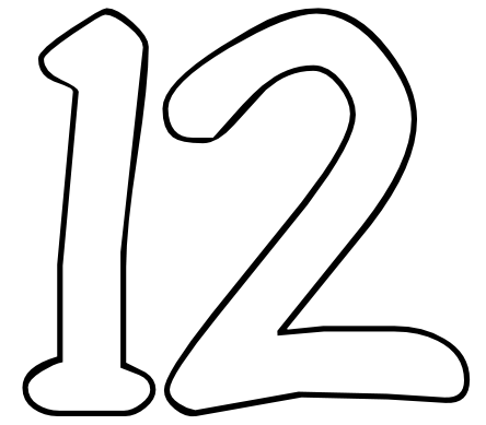 Free Number 12 Images, Download Free Clip Art, Free Clip Art.