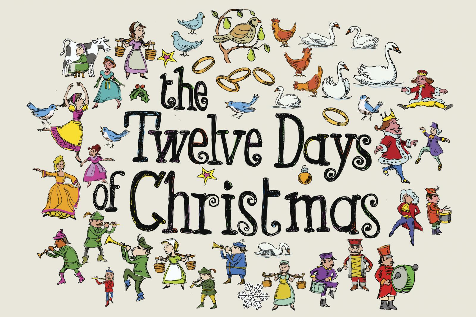 12 Days of Christmas Graphics.
