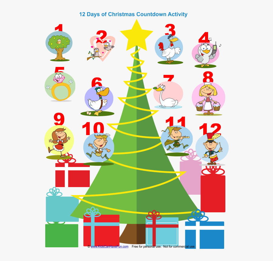 Transparent 12 Days Of Christmas Png.