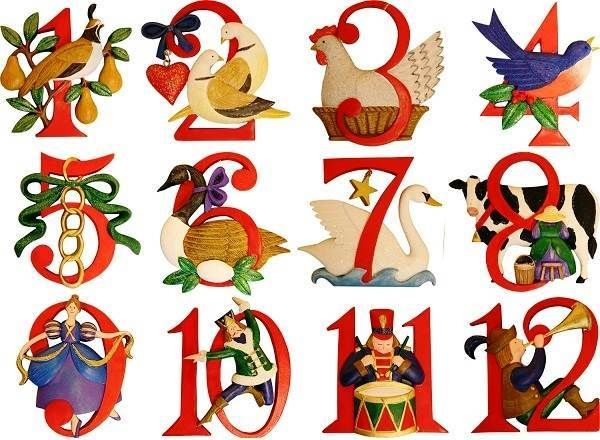 Twelve 12 Days of Christmas Images Printable Free Download.