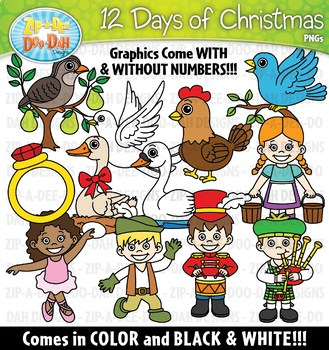 12 days of christmas clipart 8 » Clipart Portal.