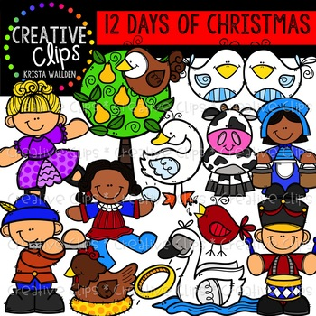 12 Days of Christmas Clipart {Creative Clips Clipart}.