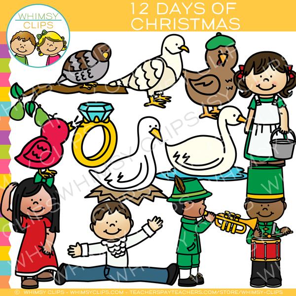 Twelve Days of Christmas Clip Art.