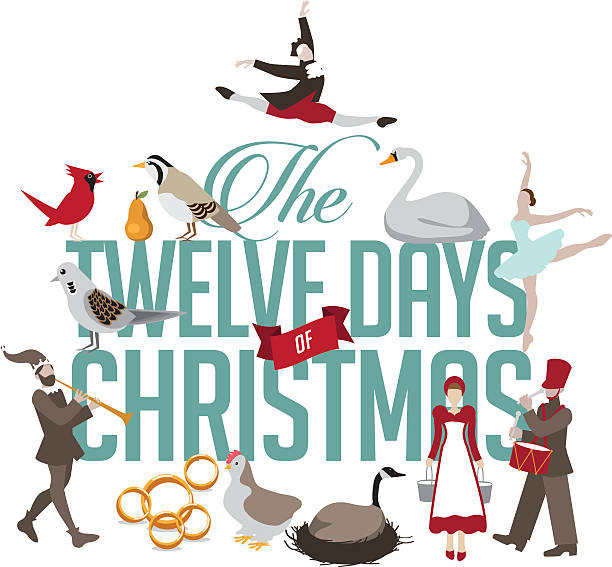 Best The Twelve Days Of Christmas Illustrations, Royalty.