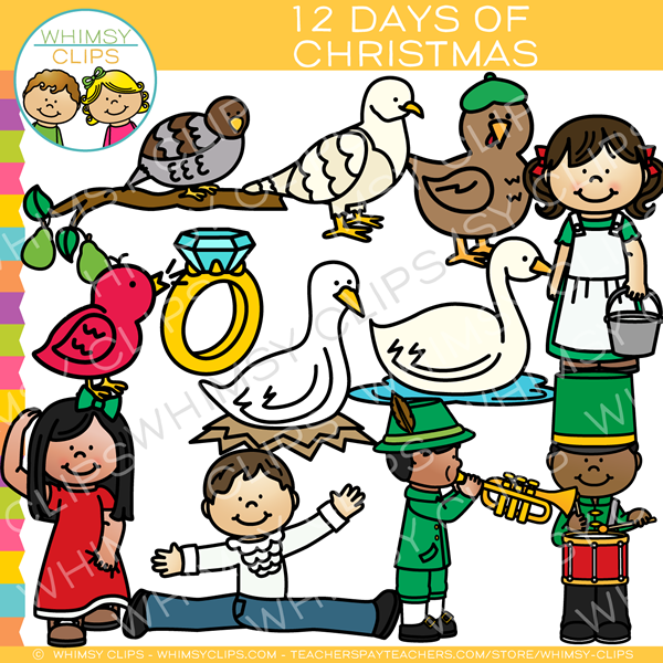 Twelve Days of Christmas Clip Art.